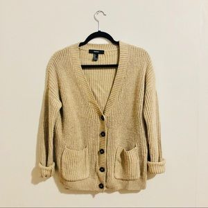 Forever 21 Tan Cardigan Sweater